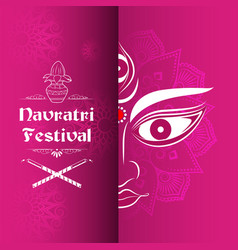 Promotional banner for dandiya in disco garba vector