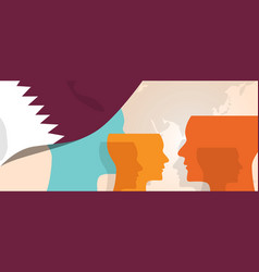 Qatar concept of thinking growing innovation vector