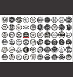 Retro vintage badges and labels collection 1 vector