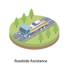 road assistance vector image