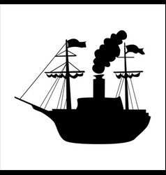 sailing steam engine vector image