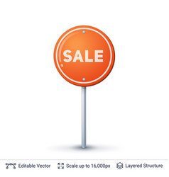 Sale road sign vector