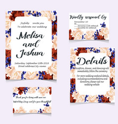 Save the date cards wedding invitation vector