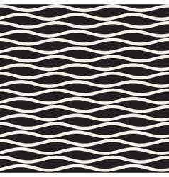 Seamless Black And White Horizontal Wavy vector image