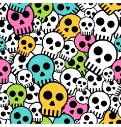 Seamless skull background vector