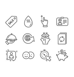 Set business icons such as touchscreen gesture vector