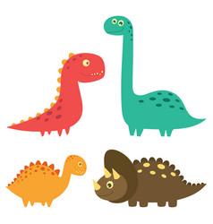 set cute dinosaurs design vector image