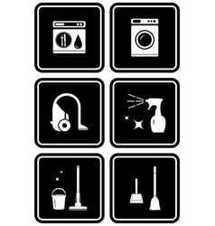 set of tools for cleaning the house vector image