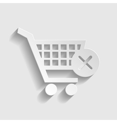 Shopping Cart and X Mark Icon vector