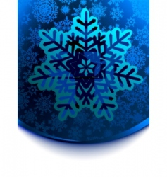 Snow flake cars template vector