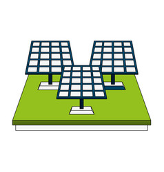 solar panels energy vector image