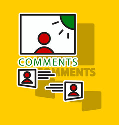 Sticker self photo concept comments on the photo vector