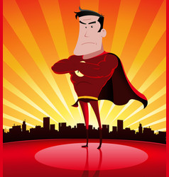 Super hero in the city vector