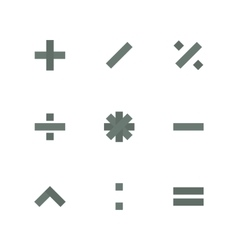Symbol Set of mathematical operations vector image