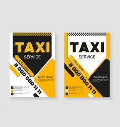 Taxi service layout vertical design taxi vector
