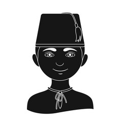turkhuman race single icon in black style vector image
