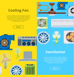 ventilation industrial air conditioner heat vector image