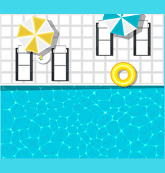 water park banner with swimming pool vector image