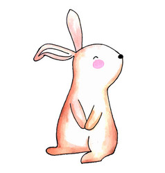 watercolor easter rabbit vector image
