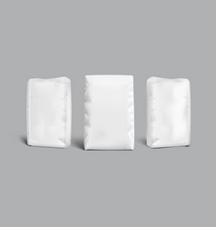 White bags for flour or other loose products vector