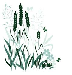 Wild grasses vector