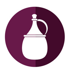 Wine carafe cork icon shadow vector