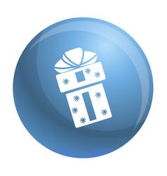 xmas box icon simple style vector image