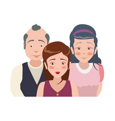 elder parents and daughter vector image vector image