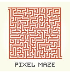 Pixel art maze isolated vector image