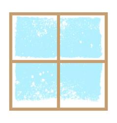 winter snowy window vector image