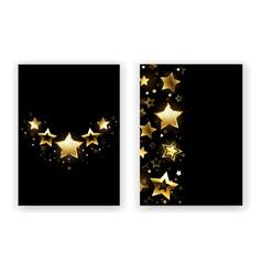 brochure design with golden stars vector image