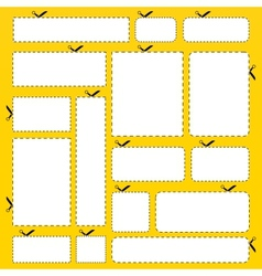 Cut out paper banner set vector image vector image