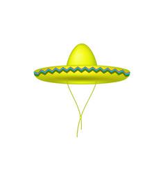 sombrero hat in yellow design vector image