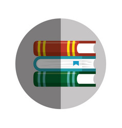 Books school supply icon vector