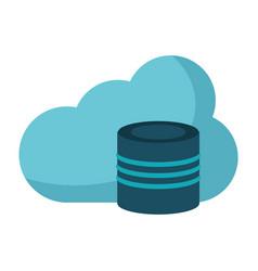 cloud data base technology vector image