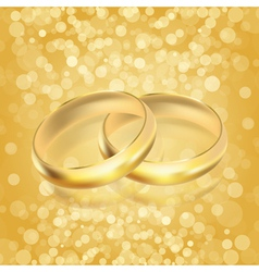 gold rings vector image vector image