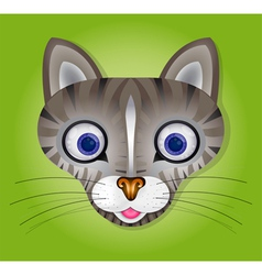 Green background with cat vector image