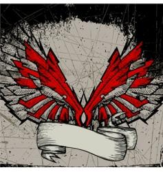grunge wing frame vector image