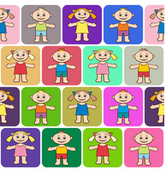 Seamless background children vector