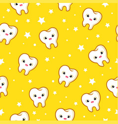 seamless pattern with teeth vector image vector image