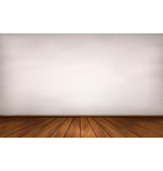 Wall and a wooden floor vector image vector image