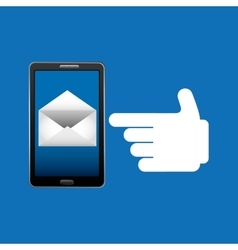 concept email newsletter chat icon vector image