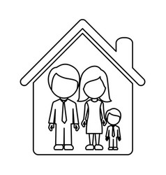 figure family together icon vector image vector image