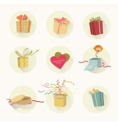 gifts set vector image vector image