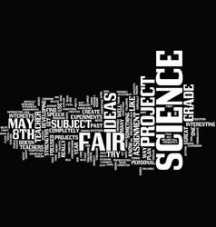 th grade science fair project ideas text vector image