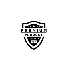 100 premium quality products shield vector