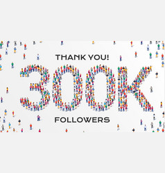 300k followers group business people vector
