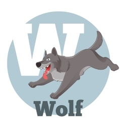 ABC Cartoon Wolf vector image