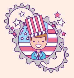 american labor day vector image