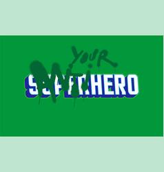 anti hero print vector image